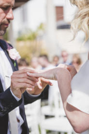 Pic: Couple exchanging wedding rings