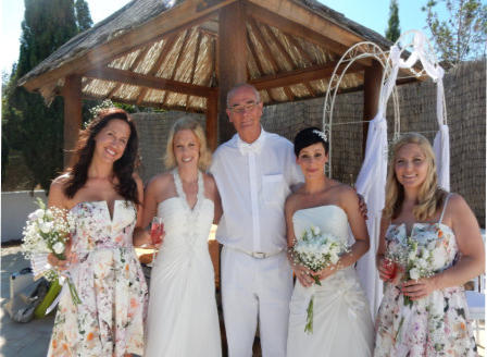 Pic:  HP married the lovely  Lisa and Gemma