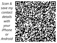 Pic: This QR code will load our details to your contact list